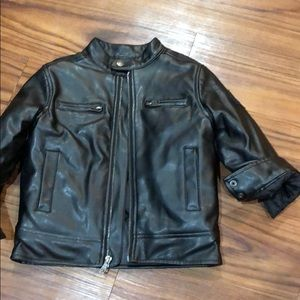 Lucky Brand Jackets & Coats - Boys black leather jacket size 3T